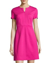 Diane Von Furstenberg Agatha Zip Front Sheath Dress Pink