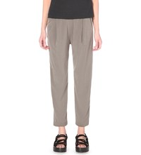 Allsaints Azalea Satin Trousers Khaki Green