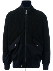 Sacai Knitted Bomber Black