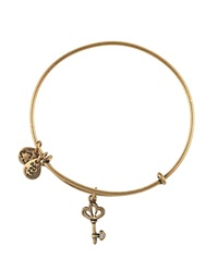 Alex And Ani Skeleton Key Bangle Rafaelian Gold