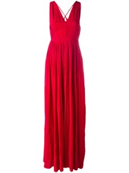 N 21 No21 Pleated Gown Dress Red