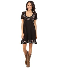 Roper 0231 Poly Slub Jersey Dress Black Women's Dress