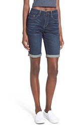 Junior Women's Bp. Cuff Skinny Denim Bermuda Shorts Dusk Blue