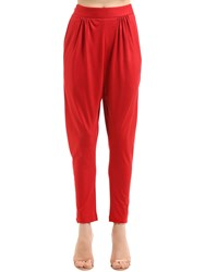 Vionnet Red Satin Trousers