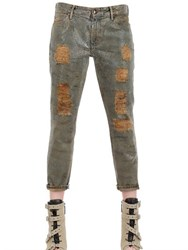 Koral Skinny Cotton Denim Relaxed Jeans