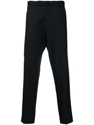 Dell'oglio Nagone Creased Cropped Trousers Black