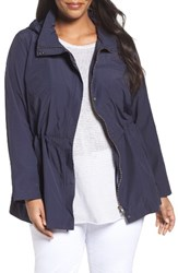 Eileen Fisher Plus Size Women's Lightweight Organic Cotton And Nylon Stand Collar Jacket