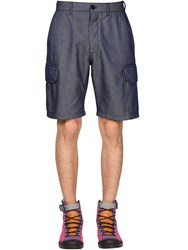 Loewe Eye Nature Tech Cargo Shorts Blue