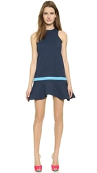 Cynthia Rowley Ruffle Bottom Dress Navy