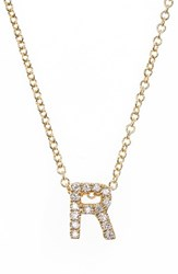 Bony Levy Women's Pave Diamond Initial Pendant Necklace Nordstrom Exclusive Yellow Gold R