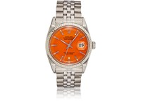 Vintage Watches Men's Oyster Perpetual Datejust Watch Orange