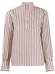 Roseanna Morrison Marshall Striped Blouse Red
