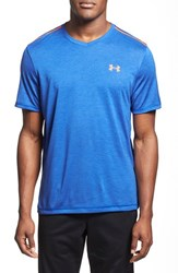 Men's Under Armour 'Ua Tech' Loose Fit Short Sleeve V Neck T Shirt Cobalt Tonal Twist Orange