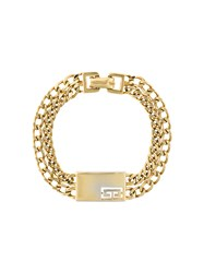 Givenchy Vintage Chain Link Bracelet Yellow And Orange