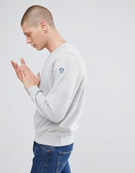 North Sails Patch Logo Sweatshirt In Grey Marle Grey 0927