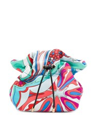 Emilio Pucci Turquoise And Red Badea Beauty Case Blue