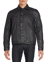 Cult Of Individuality Coated Moto Jacket Black