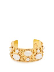 Sylvia Toledano Byzantine Small Gold Plated Cuff Pearl