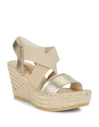 Vidorreta Sybil Wedge Sandals Gold