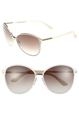 Women's Tom Ford 'Penelope' 59Mm Sunglasses Shiny Rose Gold Ivory