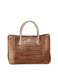 Nancy Gonzalez Metallic Crocodile Tote Bag Bronze
