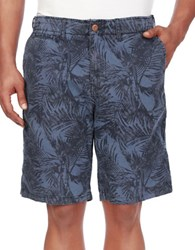 Lucky Brand Palm Leaf Printed Cotton Shorts Multi