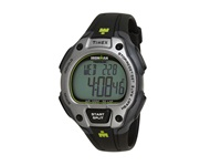 Timex Ironman Road Trainer Heart Rate Monitor Black Gray Lime Green Resin Strap Watch Black Gray Green Watches