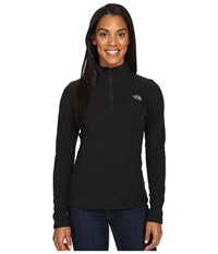 The North Face Glacier 1 4 Zip Fleece Top Tnf Black Mid Grey Women's Fleece