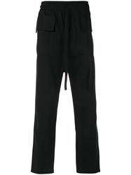 Damir Doma Drop Crotch Cargo Trousers Cotton Xs Black