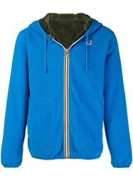 K Way Reversible Hooded Jacket Blue
