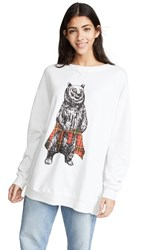 Wildfox Couture Roadtrip Hip Grizzly Sweatshirt Vanilla