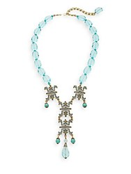 Heidi Daus Tea House Delight Swarovski Crystal And Multicolor Rhinestone Beaded Pendant Necklace Turquoise