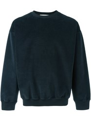 Golden Goose Deluxe Brand Towelling Sweatshirt Blue