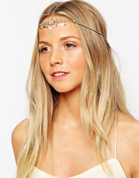 Orelia Crystal And Diamond Hair Crown Crystalpalegold