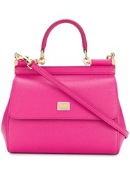 Dolce And Gabbana Smal Sicily Shoulder Bag Pink