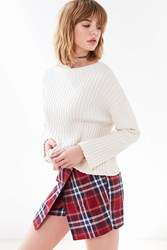 Cooperative Plaid Wrap Skort Red Multi