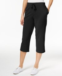 Karen Scott Pull On Capri Pants Only At Macy's Deep Black