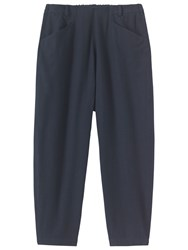 Toast Cotton Flannel Trousers Washed Navy