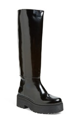 Jeffrey Campbell 'Delfonic' Knee High Lug Platform Boot Women Black Box