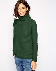 Pull And Bear Pullandbear Roll Neck Jumper Green