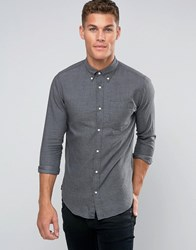 Jack And Jones Premium Smart Shirt With Button Down Charcoal Grey