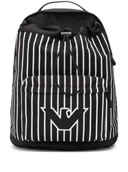 Emporio Armani Striped Logo Print Backpack 60