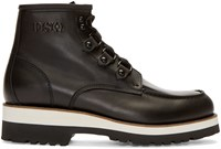 Dsquared Black Leather Lace Up Ankle Boots
