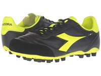 Diadora Brasil Lt Mdpu 25 Black Yellow Fluo Men's Soccer Shoes