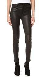 Joe's Jeans Charlie Leather Ankle Black