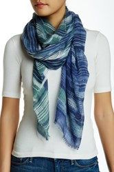 Nine West Many Moons Oversized Scarf Blue