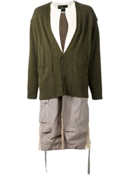 Undercover Two Piece Coat Green