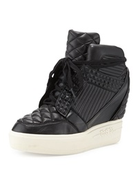 Azimut High Top Wedge Sneaker Black Ash