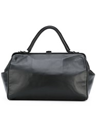 A.F.Vandevorst Snap Top Tote Bag Women Calf Leather One Size Black