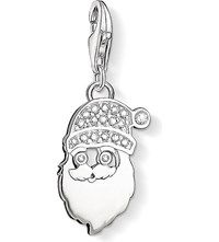Thomas Sabo Charm Club Silver And Zirconia Santa Claus Charm